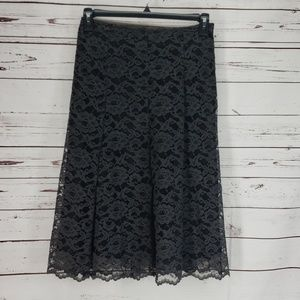 Laura Ashley Black Lace Full Skirt